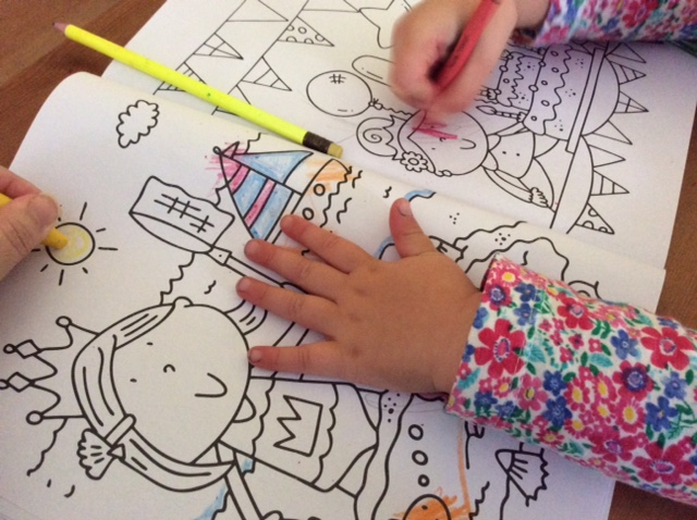 Adult colouring in… mum style