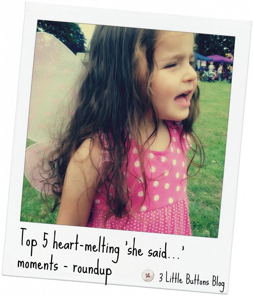 Top 5 heart-melting 'she said…' moments – November 2015 roundup