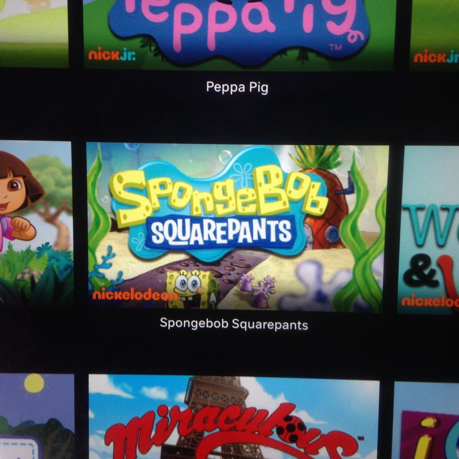 Watch Nickelodeon's SpongeBob SquarePants on NOW TV