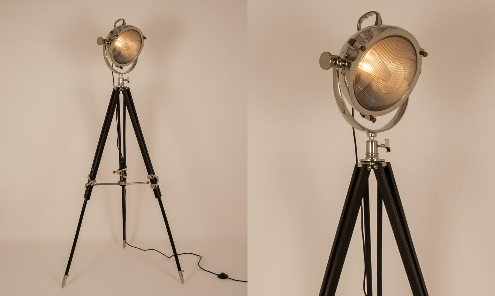 Screen Tripod Black Floor Lamp from Fishpools