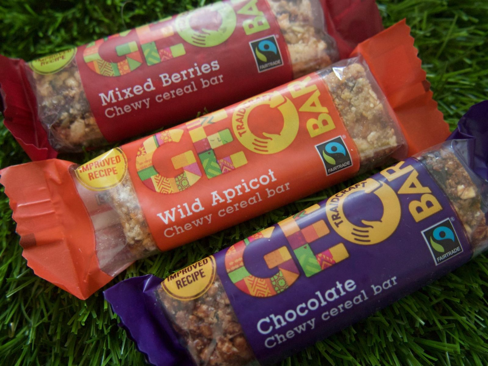 GEOBAR Chewy Cereal Bars Tastier Than Ever