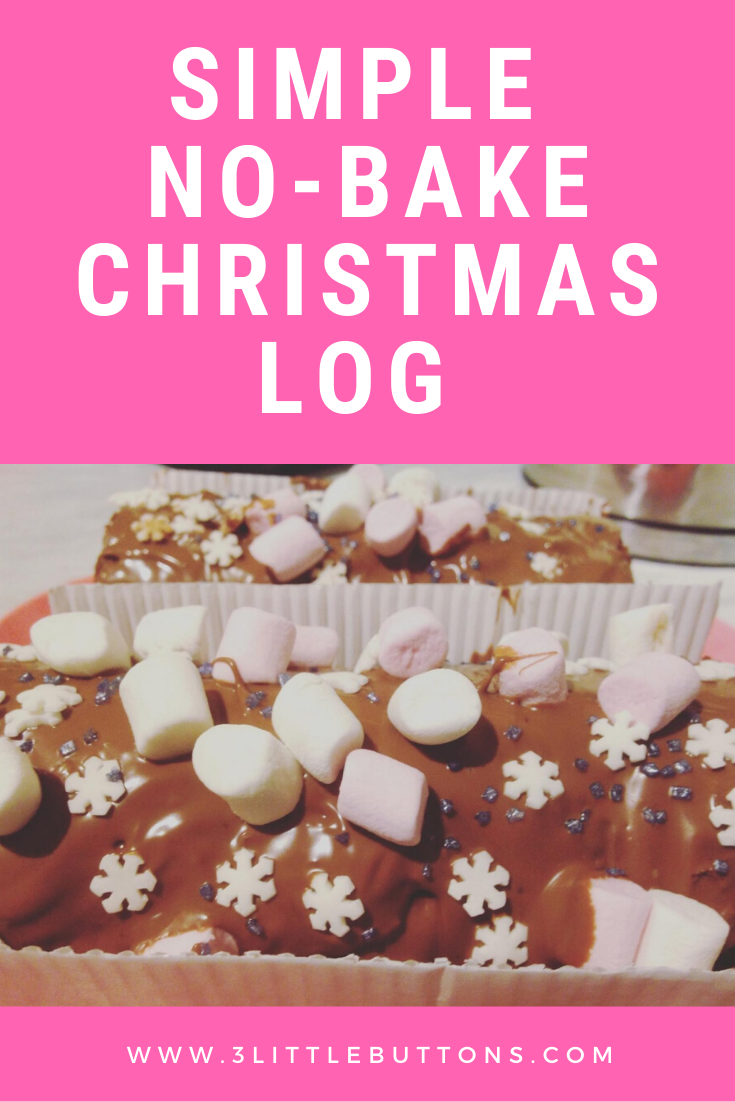 Simple No-Bake Christmas Log