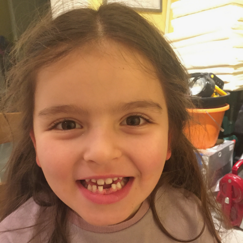 Happiness is a visit from the tooth fairy for the first time