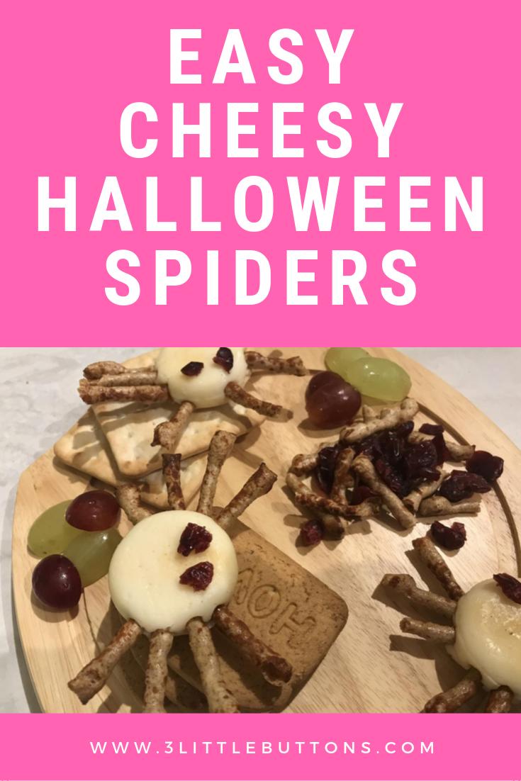 Easy cheesy Halloween spiders