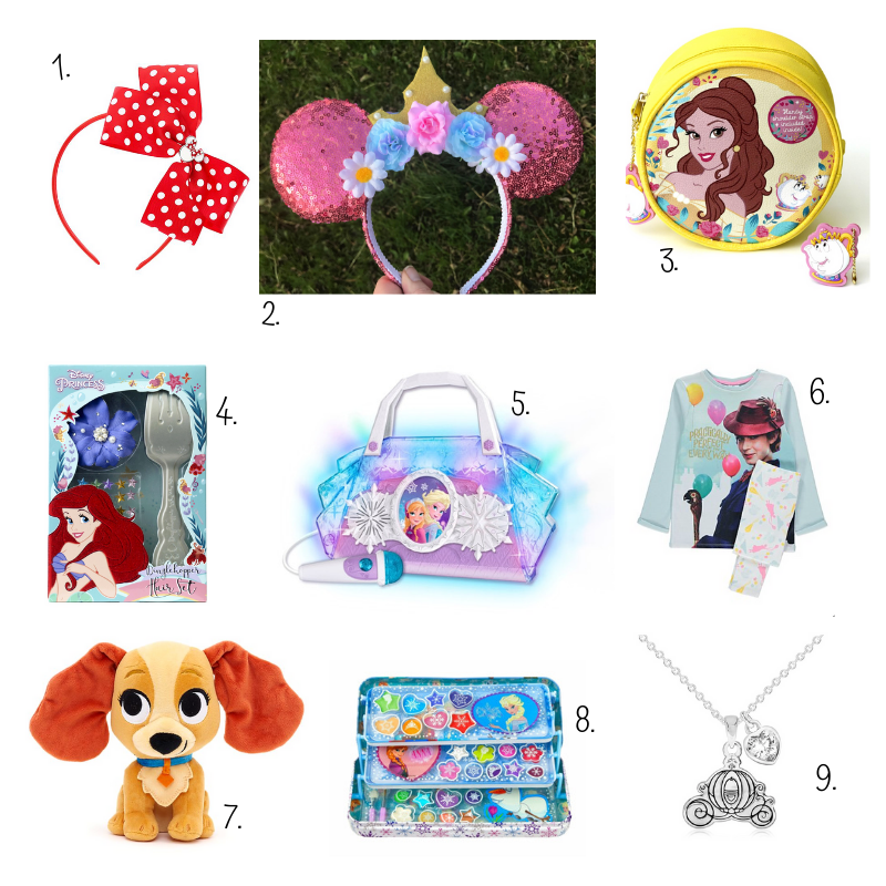 Disney inspired girls Christmas stocking filler ideas
