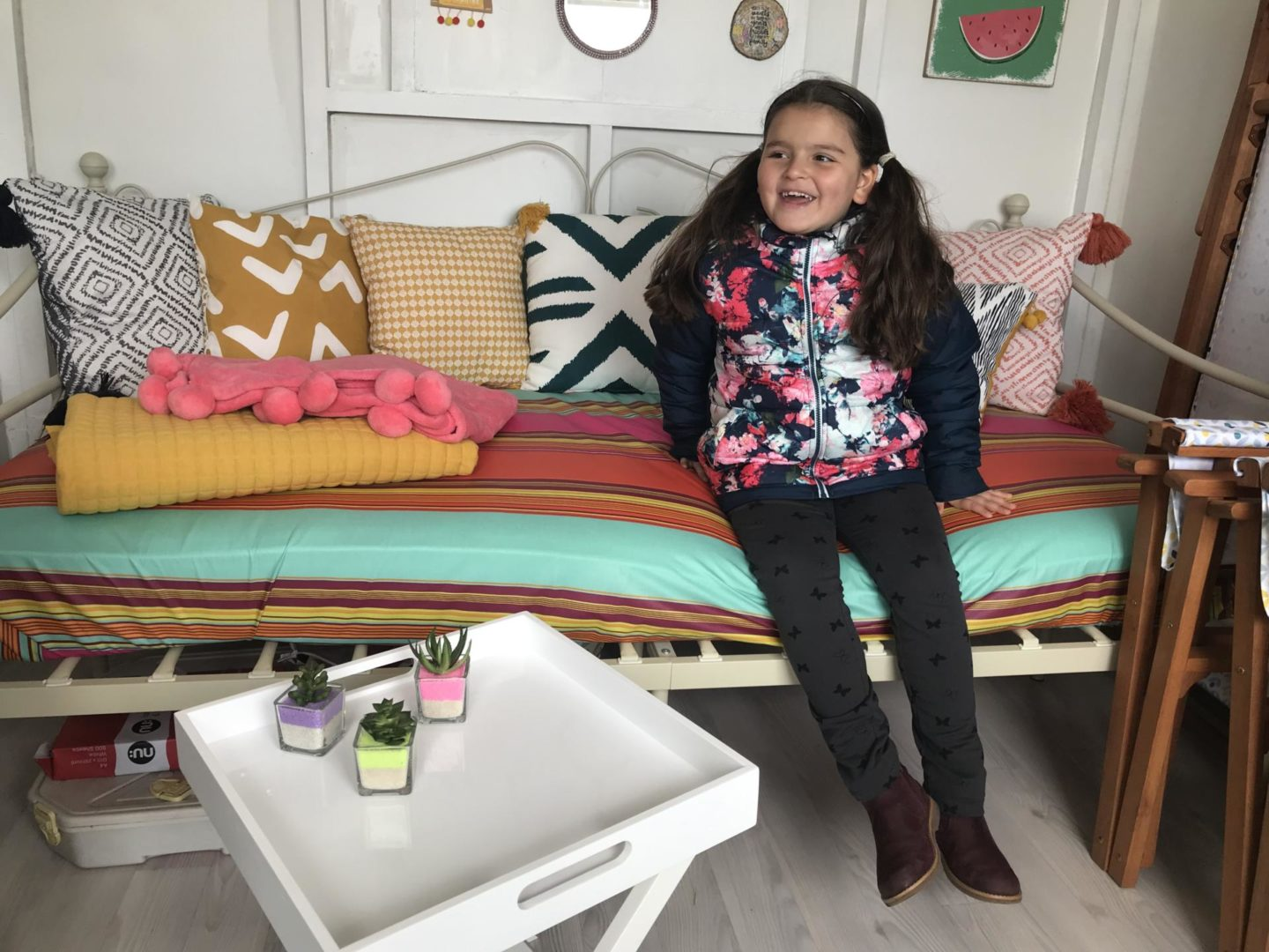 A beach hut day in Millie's Beach Huts – Loopy Lou (the yellow one!)