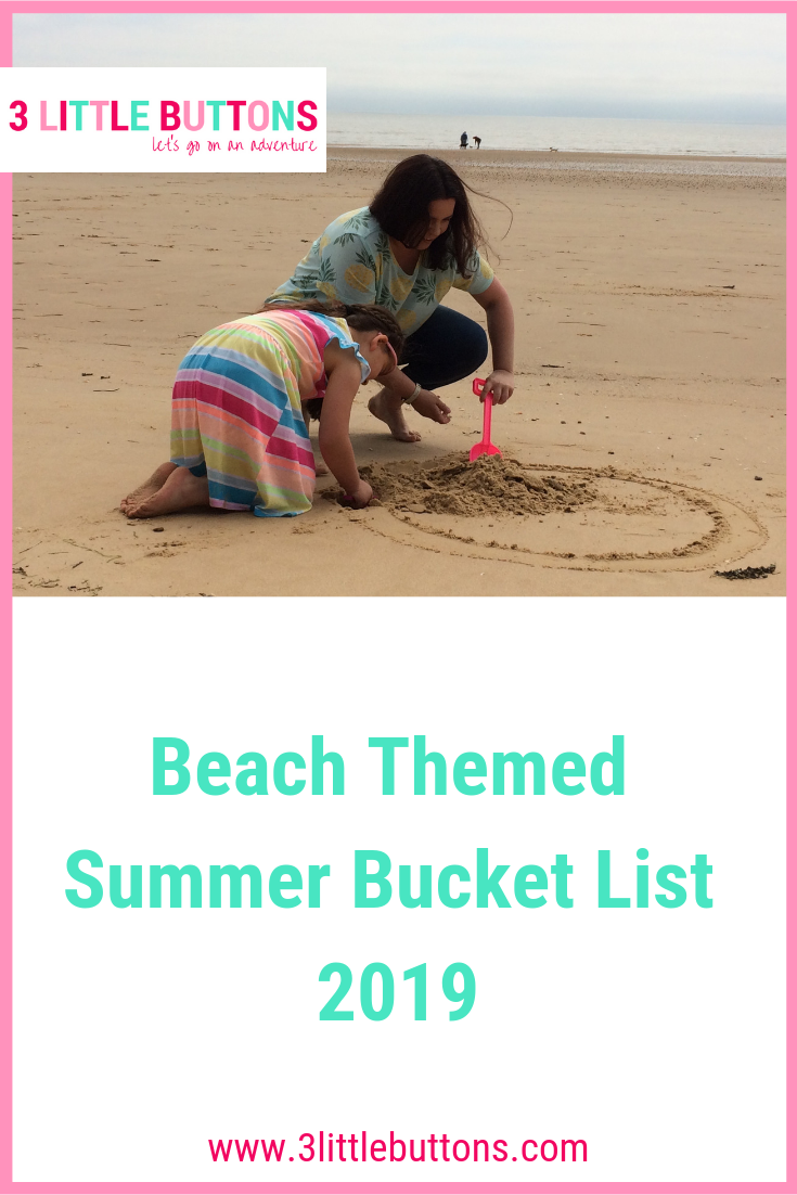 Beach Themed Summer Bucket List 2019