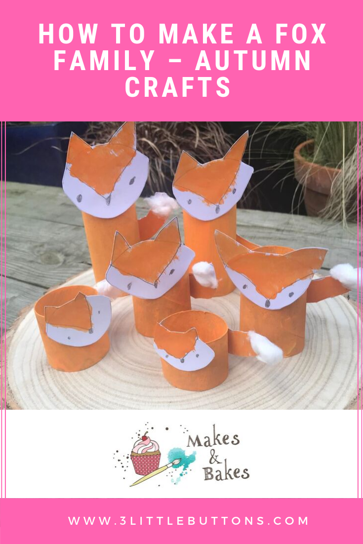 How to make a fox family – Autumn crafts