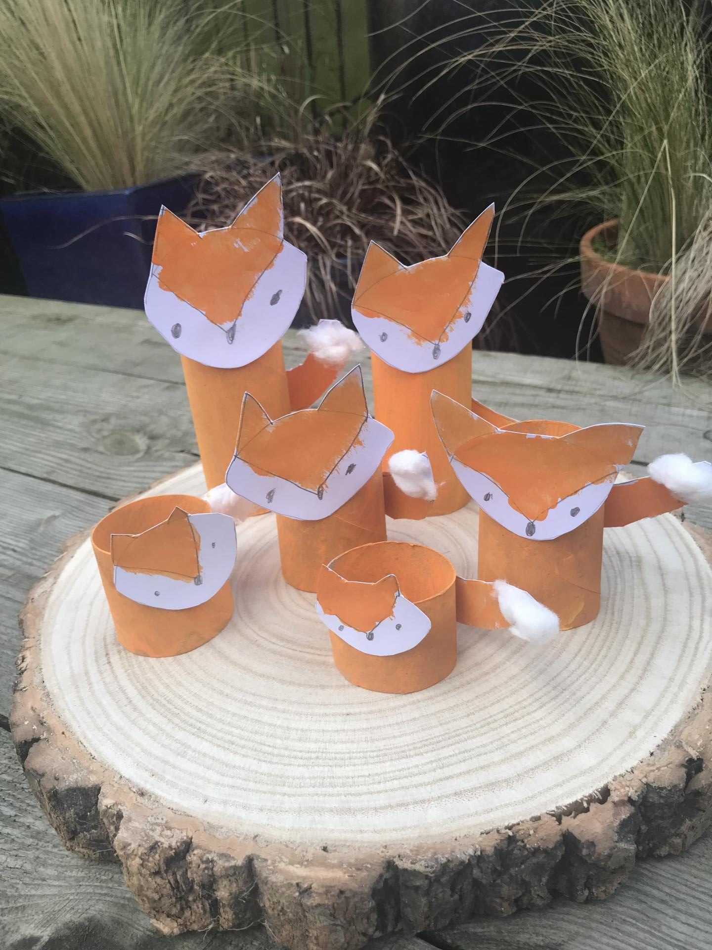 How to make a fox family - Autumn crafts for kids