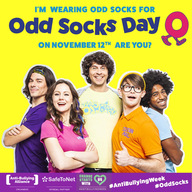 I'm wearing odd socks for Odd Socks Day! - Tuesday 12th November