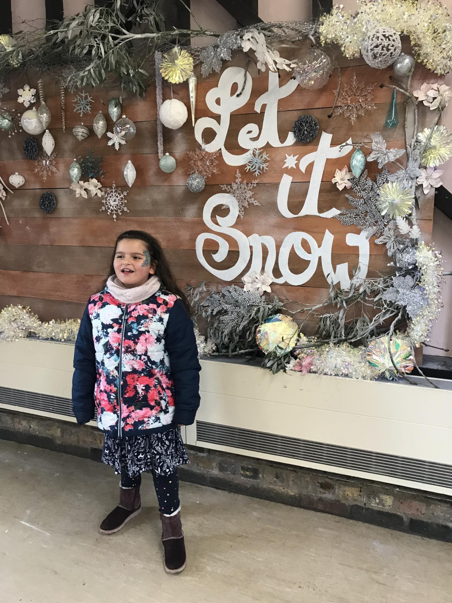 Let it Snow event at Marsh Farm, Essex